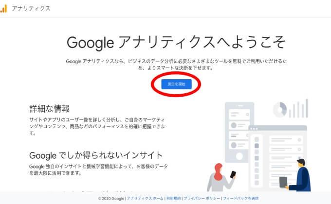 グーグルアナリティクス開始