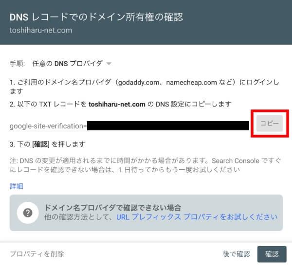 DNSレコード確認